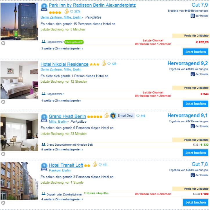"""Booking.com gibt Unterlassungserklärung ab - Schluss mit dem Psychodruck """"Letzte Chance"""" bei der Hotelbuchung"""