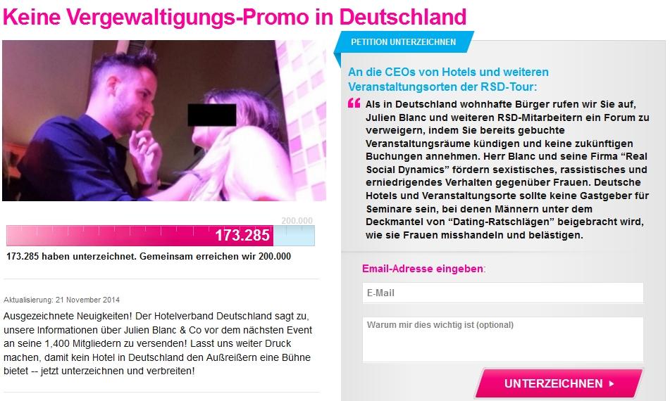 """Aufruf an Hoteliers: Keine Seminarräume für """"Aufreiß-Künstler"""""""