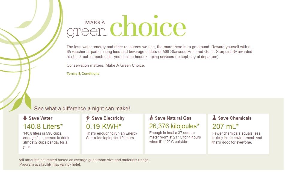 Sheraton Make a Green Choice