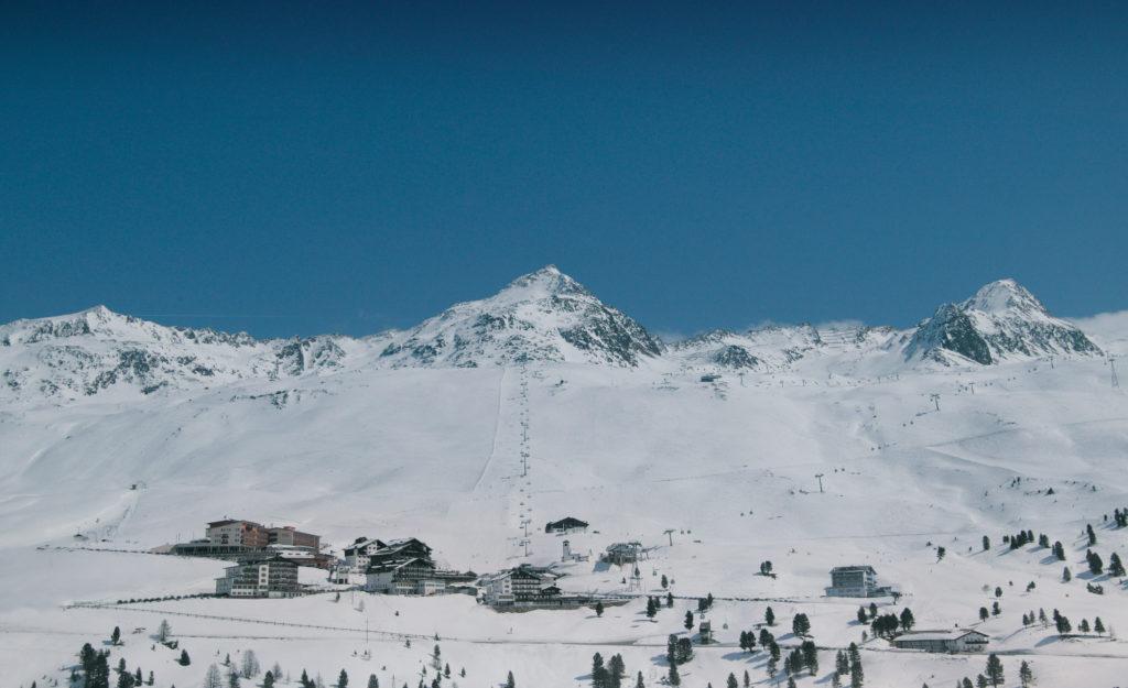 Skifahren Alpen Berge Hochgurgl Tirol Ötztal