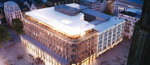 Dom Hotel Köln mit Glasdach - Visualisierung: Lammerting