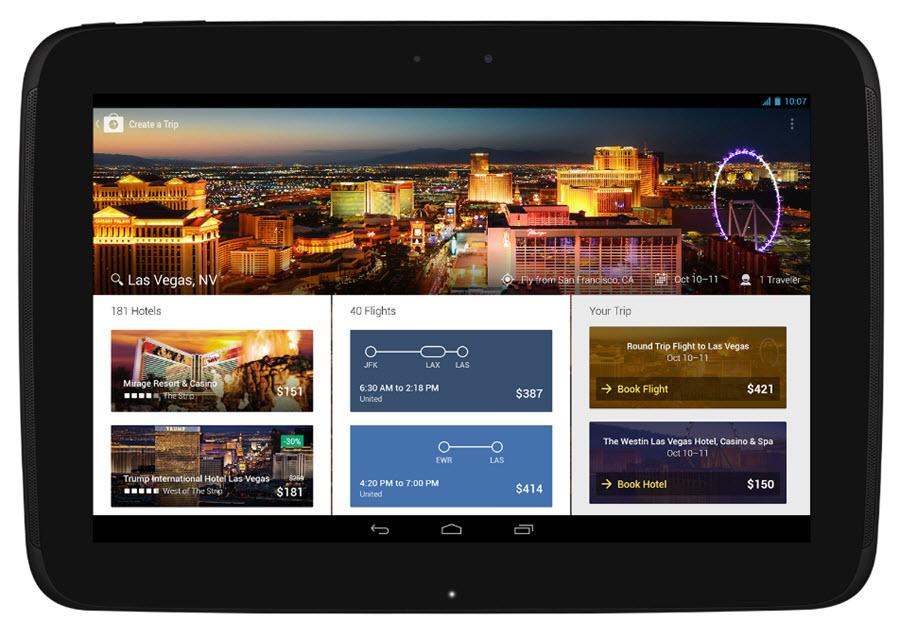 Expedia Tablett App