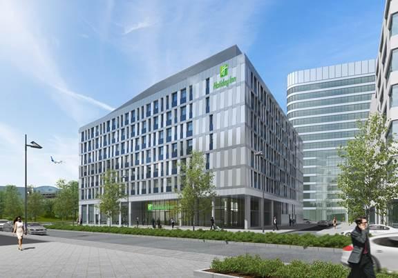 Neues Holiday Inn Hotel: Demnächst in Gateway Gardens vertreten, in fußläufiger Entfernung zum Terminal 2 des Frankfurter Flughafens