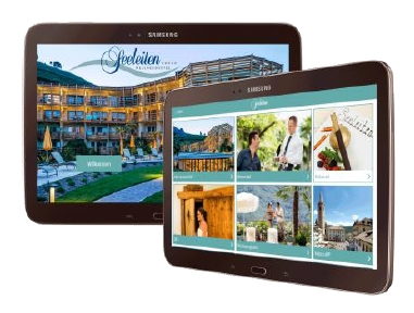 SuitePad Tablets im Wellnesshotel Seeleiten Kaltern am See in Südtirol