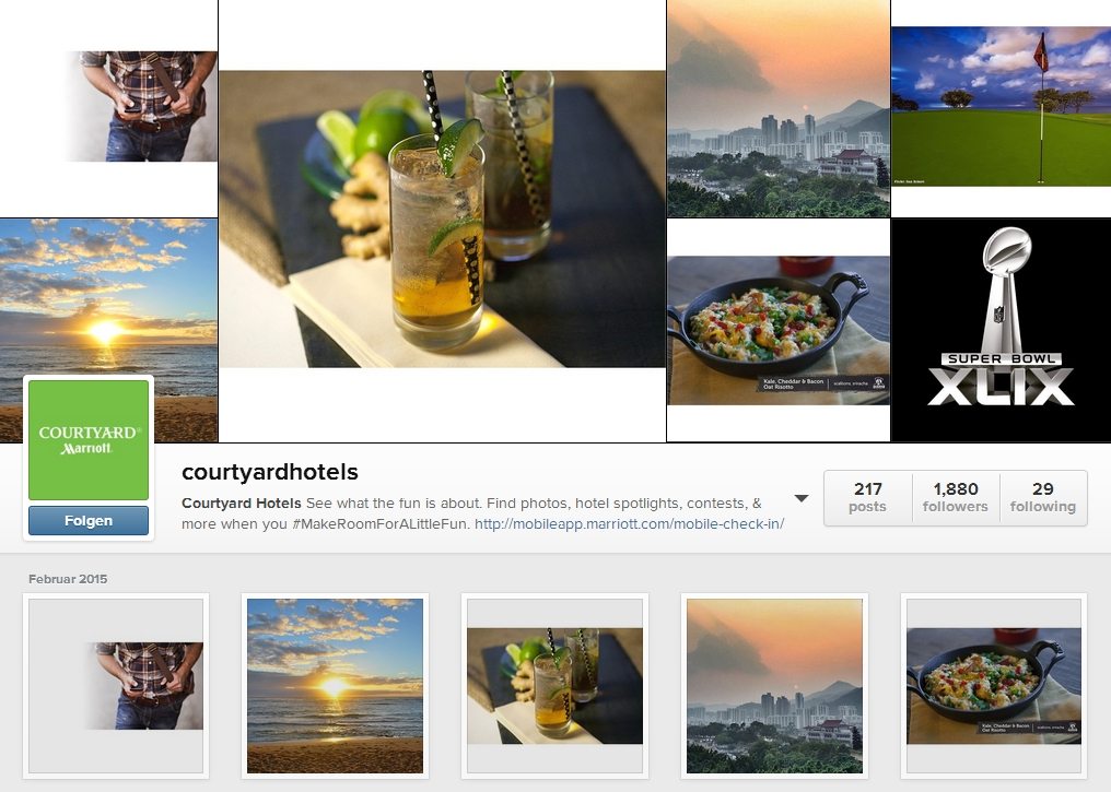 Courtyard by Marriott Instagram