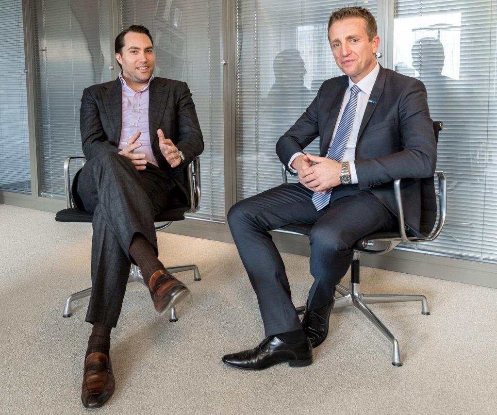 Tobias Ragge (HRS, links) und Udo Lüldorf (Meetago) wollen Marktführer bei MICE-Onlinebuchungen werden