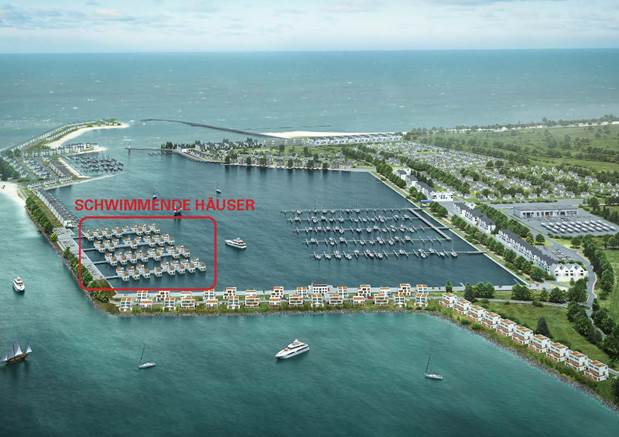 60 schwimmende Ferienhäuser für das Ostee Resort Olpenitz