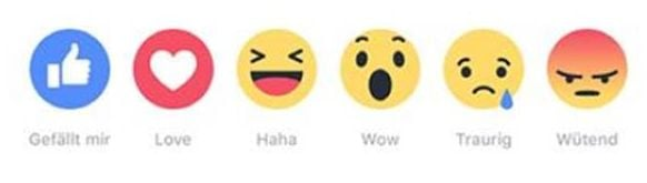 Neue Facebook Reactions - Grafik: Facebook