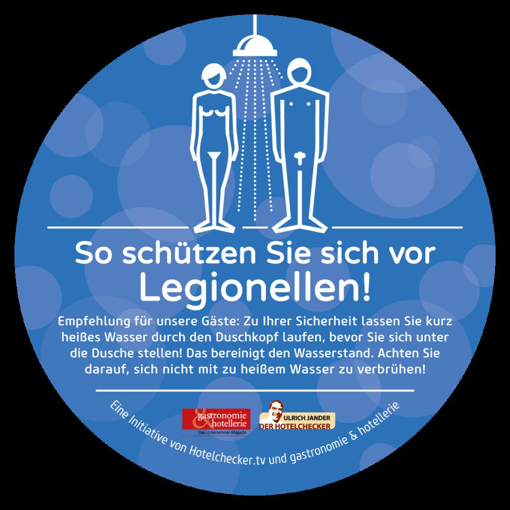 Schützen Sie Ihre Gäste vor gefährlichen Legionellen im Trinkwasser - Grafik: HUSS-MEDIEN/Arne Belau