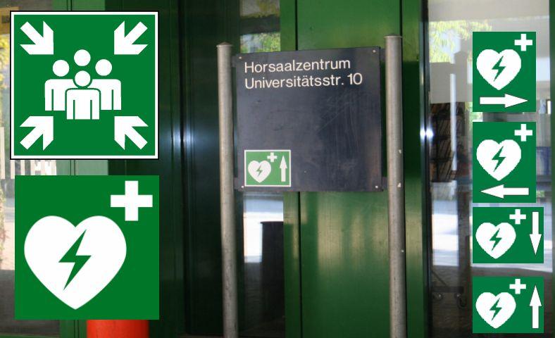 Erste Hilfe per Elektroschock - Schnelles Handeln rettet Leben - Defibrillatoren verdoppeln die Überlebenschance - Neues ARD-Gerätebegleitheft (Grafik: Castell Life Safe)