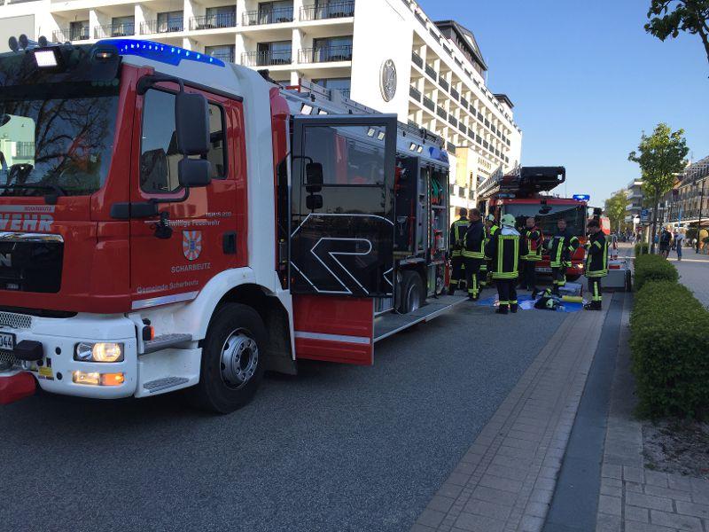Feuerwehr-Einsatz im Bayside Hotel in Scharbeutz (Foto: Feuerwehr Scharbeutz)