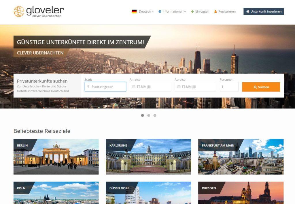 Gloveler startet durch: Noch mehr Onlinebuchungen für private Vermieter - Mit Cultuzz Digital Media als IT-Partner wird Deutschland endlich komplett buchbar gemacht - Anbindung an Channel Management System ist Durchbruch bei Internetreservierungen