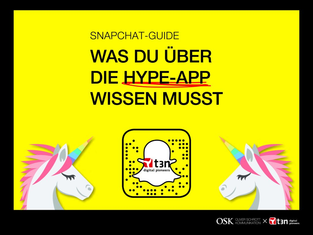 Snapchat in der PR - Kostenloses E-Book für den erfolgreichen Einsatz in der Unternehmenskommunikation