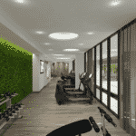 Hyatt Place Frankfurt - Gym Rendering