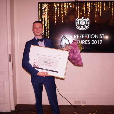 Receptionist of the Year 2019 in Germany: Sascha Haiss, Brenners Park-Hotel & Spa Baden-Baden (Foto: AICR Germany)